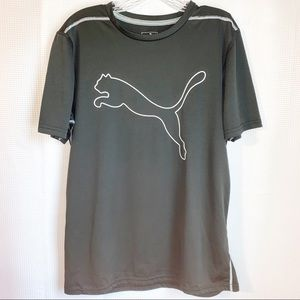 Men's Black Puma T-Shirt. Size medium.